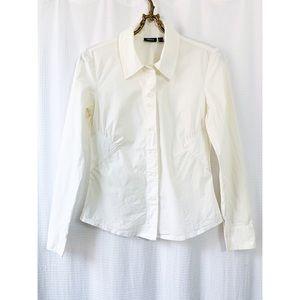 🌸2/$30 Mexx white collared button down blouse